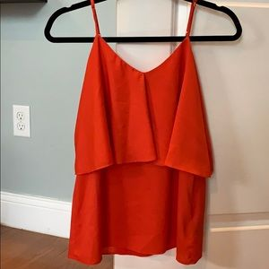 Forever 21 Red Layered Tank